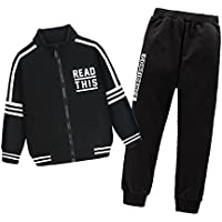 OnlyAngel Boys Athletic Tracksuits Zipper Jacket & Elastic Pant Clothing Sets Age 4-12