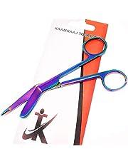 "Heavy Duty 4.5"" Nursing Lister Bandage Scissors Multi Colour Premium Quality Trauma Shears (KKT)"