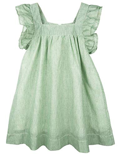 (ContiKids Girls' Frill Sleeve Fly Dress 11 Green)