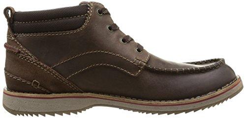 Clarks Mahale Mid - botas de cuero hombre marrón - Braun (Dark Brown Nub)