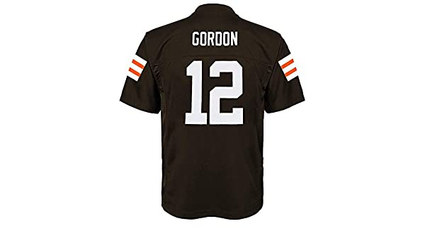 1403e1da7 Amazon.com   Outerstuff Josh Gordon NFL Cleveland Browns Mid Tier Home Brown  Jersey Youth (S-XL)   Sports   Outdoors