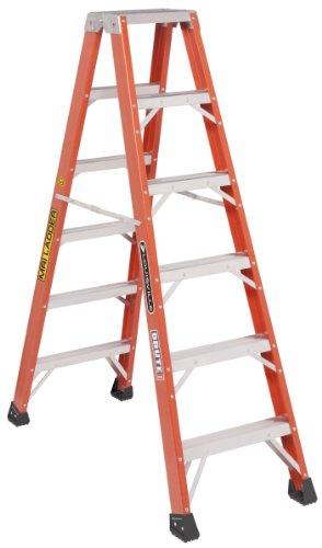 Louisville Ladder L-3431-06MR 6-Feet Twin Front Fiberglass Ladder