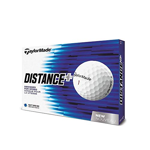 TaylorMade 2018 Distance+ Golf Ball, White (One