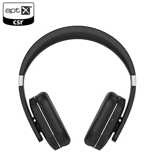 NOA Massive Sound Bluetooth Wireless Headphones Stereo Over Ear Headphones with Built-in Mic, Hands-free Voice Calling AptX Headset for iPhone, Samsung, iPad, Tablets and More