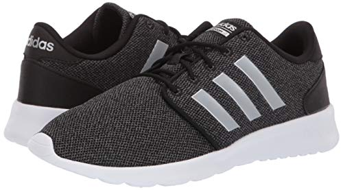 adidas Women's Cloudfoam Qt Racer Sneaker, Black/Silver Metallic/Grey, 5.5 M US by adidas (Image #5)