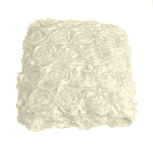 Wedding Carpet,OHTOP 78.74''x 39.4'' 3D Fiber Anti-slip Rose Flower Wedding Stage Floor Long Carpet Aisle Runner Mats Rugs(Beige) by OHTOP