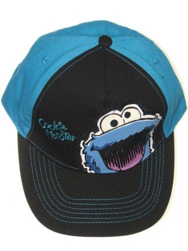 (Sesame Street Cookie Monster Face Baseball Cap UPF 50+ Sun Hat)