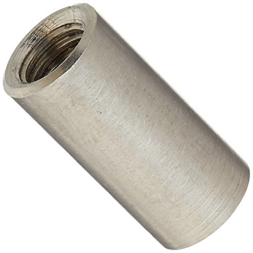 M8 304 Round Connector Nuts Stainless Steel Threaded Joint Adapter Threaded Round Coupling Adapter Nuts 5 Pieces