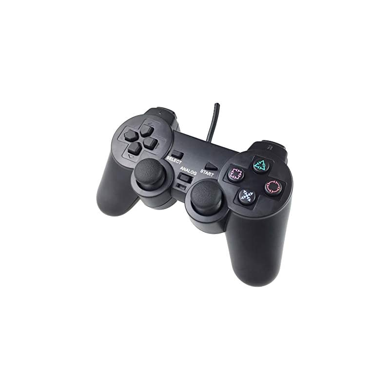Playstation 2 Dualshock 2 Controller Compatible with Sony PS2 Console Video  Game,Built-in-Double Vibration Motors with Sensitive Control and Cord