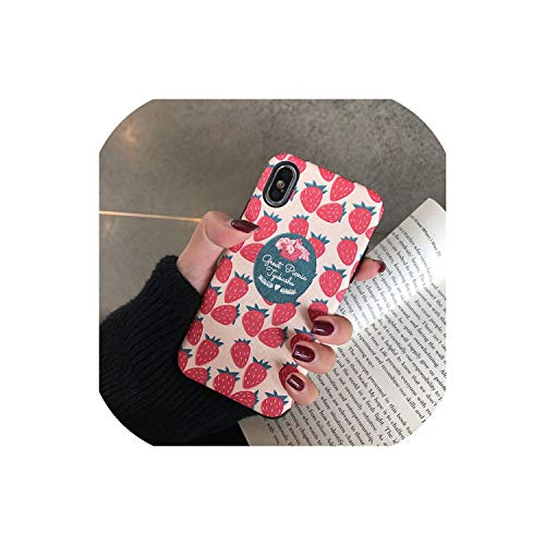 - Kawaii Japanese Pink Strawberry Phone Case for iPhone X Xs XR XSmax 7 7 Pulse 6 6S 7 8 Pulse Cases Cute 3D Relief Silk Soft Cover,A,for iPhone 7