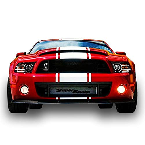 Bubbles Designs Decal Sticker Graphic Front to Back Stripe Kit Compatible with Ford Mustang GT 2005-2014 Shelby ()