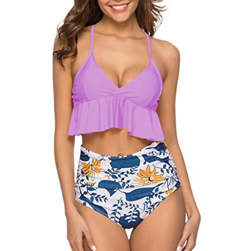 - Bikini Tops for Women Swim Wear for Kids Girls Women's Sexy Bikini Swimsuit Tie Knot Front Swimwear Set Purple