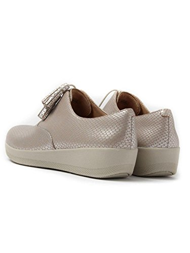 FitFlop Classic Tassel Superoxford - Silver Leather Snake