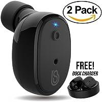 2-Pack StealthBeats In-Ear Wireless Bluetooth Earbuds Headphones (Black)