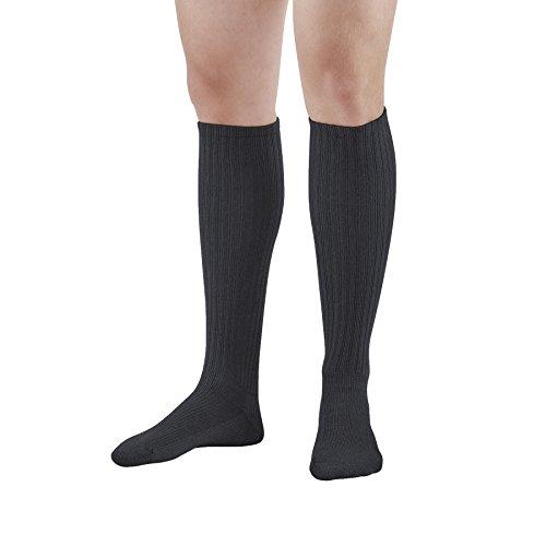 Ames Walker Unisex AW Style 185 E Z Walker Sport Compression Knee High Socks 8 15 mmHg Black Medium 185 M BLACK Acrylic Lycra Nylon from Ames Walker