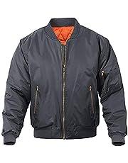 MAGNIVIT Men's MA-1 Flight Bomber Jacket Casual Fall Winter Military Jacket and Coats Outwear