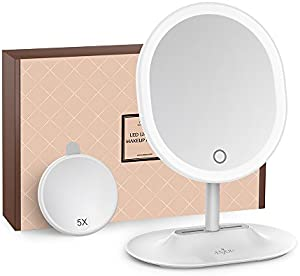 Makeup Mirror Rechargeable LED Lighted with 1X...