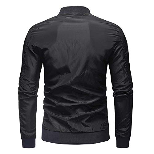 Hiver Hommes Noir Décontracté Automne Solide Outwear Kobay Manteau Veste Top Zipper Blouse EadqFa