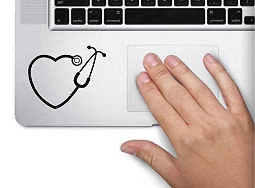 Stethoscope Symbol Macbook Trackpad Sticker