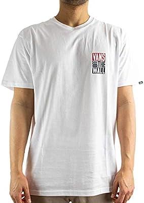 Vans Camiseta Hombre New STAX Blanco x-Small Blanco: Amazon.es: Ropa y accesorios