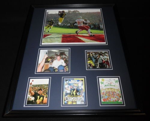 Michigan-Wolverines-1998-Rose-Bowl-Framed-16x20-Photo-Display-Woodson-Griese