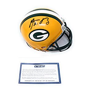 Aaron Rodgers Green Bay Packers Signed Autograph Mini Helmet Steiner Sports Certified