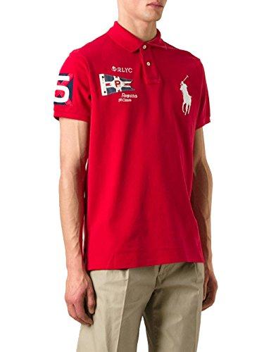 Ralph Lauren Herren A12KMM01C8312A6412 Rot Baumwolle Poloshirt