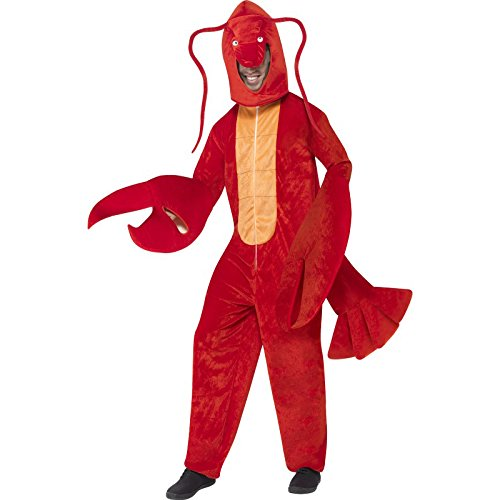 Smiffy's Adult Unisex Lobster Costume, All in One and Hood, Party Animals, Serious Fun, One Size, 40091