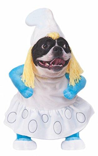 Rubie's Smurfs The Lost Village Walking Smurfette Pet Costume, Medium -