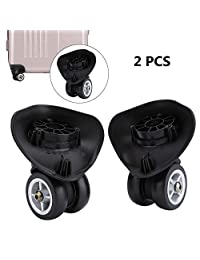 2 pcs PVC Luggage Suitcase Replacement Wheels Travel Suitcase Accessory (W042 S)