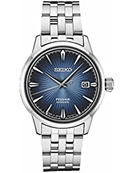 Seiko Mens Presage 23 Jewel Automatic Blue Dial Watch with Date