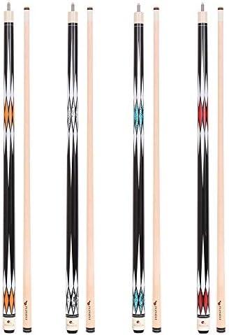 FADAZAI Set of four Pool Cues Stick 19.5 ounces58 inch Billiard House Bar Pool Sticks