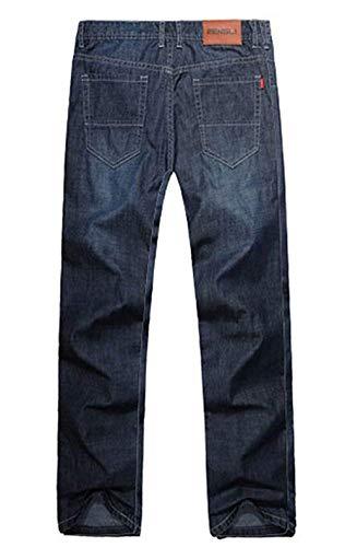 Da Pantaloni Especial Denim Bobo Vintage Scuro Uomo Elasticizzati Dritta Estilo Blu 88 Colour Jeans A Gamba xHwIqITg