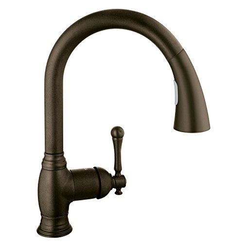 Bridgeford Single-Handle Pull-Down Kitchen Faucet with Dual Spray (Bronze Kitchen Bridgeford)