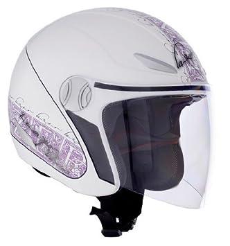 Lazer 1201211000L Tempo Liliuim - Casco abierto con visera (talla L), color blanco