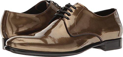 Dolce & Gabbana Men's Metallic Plain Toe Oxford Gold - Gabbana Dolce And Shoes Gold