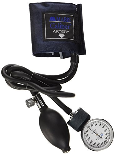 Mabis Caliber Series Aneroid Sphygmomanometer Manual Blood Pressure Monitor, Cuff Size 5.5 to 7.8 Inches, Infant