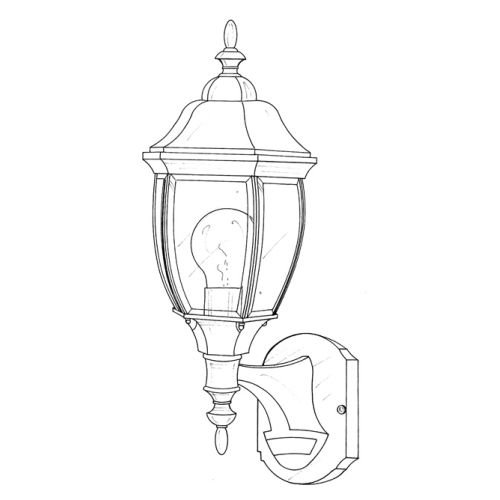 Designers Fountain 2420MD-AG Tiverton Motion Detector Collection 1-Light Exterior Wall Mount, Autumn Gold Finish with Clear Beveled ()