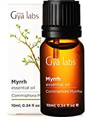 Gya Labs Myrrh Essential Oil for Meditation, Oral Care and Muscle Pain Relief - Topical for Dry Skin and Joint Pain Relief - 100 Pure Natural Therapeutic Grade Myrrh Oil for Aromatherapy - 10ml