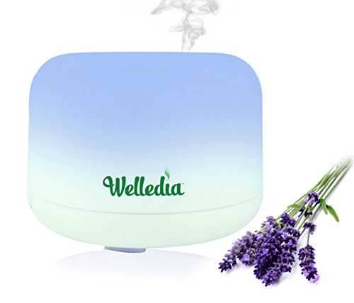 Price comparison product image Essential Oil Diffuser,  Ultrasonic Aromatherapy Diffuser,  Breeze 500ml-Cool Mist Humidifier 9 Color Changing LED Lamps, Waterless Adjustable Mist Mode
