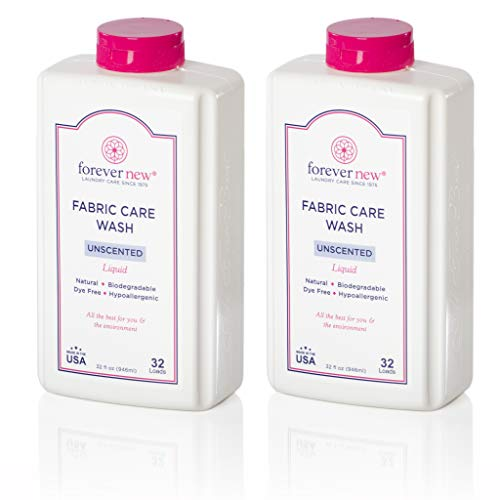 Forever New 32oz Liquid Unscented Fabric Care Wash 2 Pack (64oz Total) Natural Laundry Detergent