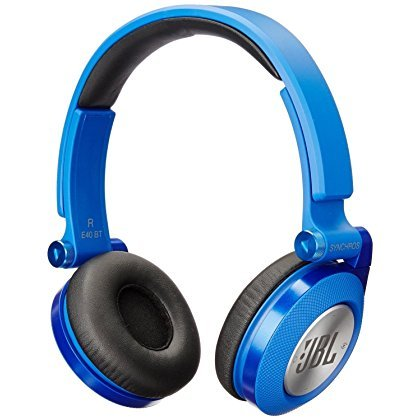 JBL SYNCHROS E40BT High-Performance Wireless On-Ear Bluetooth Stereo Headphone, Blue (Certified Refurbished)