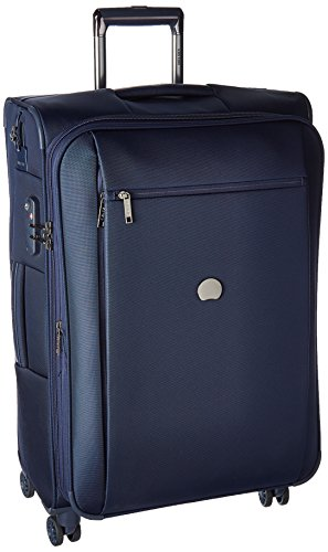 Delsey Luggage Montmartre+ 25 Inch Expandable Softside Spinner Suitcase, Navy by DELSEY Paris