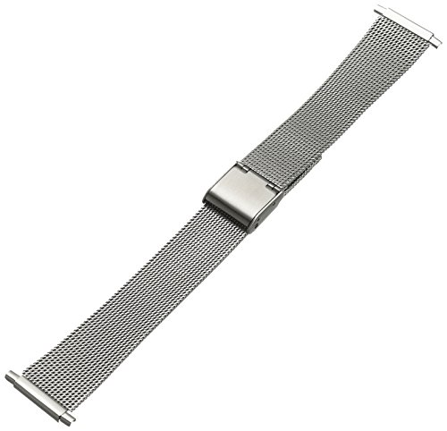 Hadley-Roma Men's MB3806RWSQ-22 22-mm Mesh Stainless Steel Watch Bracelet by Hadley Roma (Image #4)