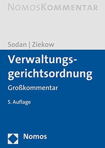 Verwaltungsgerichtsordnung: Groakommentar (German Edition)