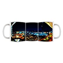 City View Night Light 11 Oz Ceramic Mug Coffee Cup With Handle