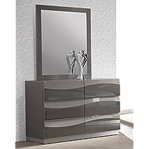 Chintaly Delhi Dresser Accent Mirror In Grey
