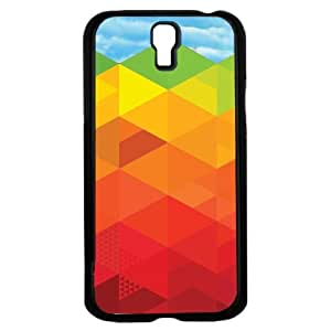 Rainbow Geometric Shapes Hard Snap on Phone Case (Galaxy s4 IV)