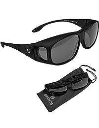 anteojos de sol envolventes, protección UV para llevar como se ajusta sobre anteojos, unisex