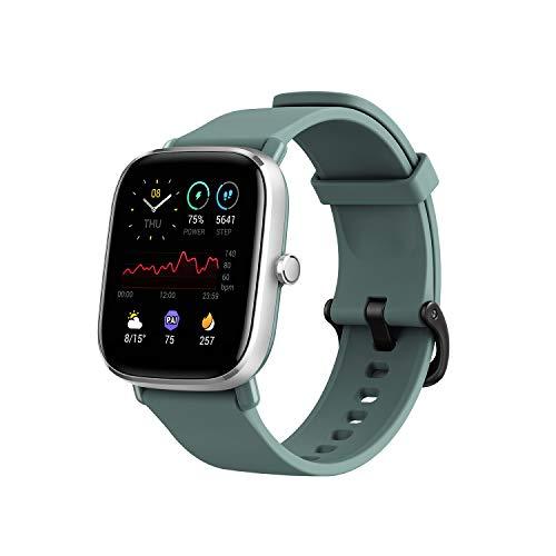 Amazfit GTS 2 Mini Fitness Smart Watch Alexa Built-In, Mini, Sage Green